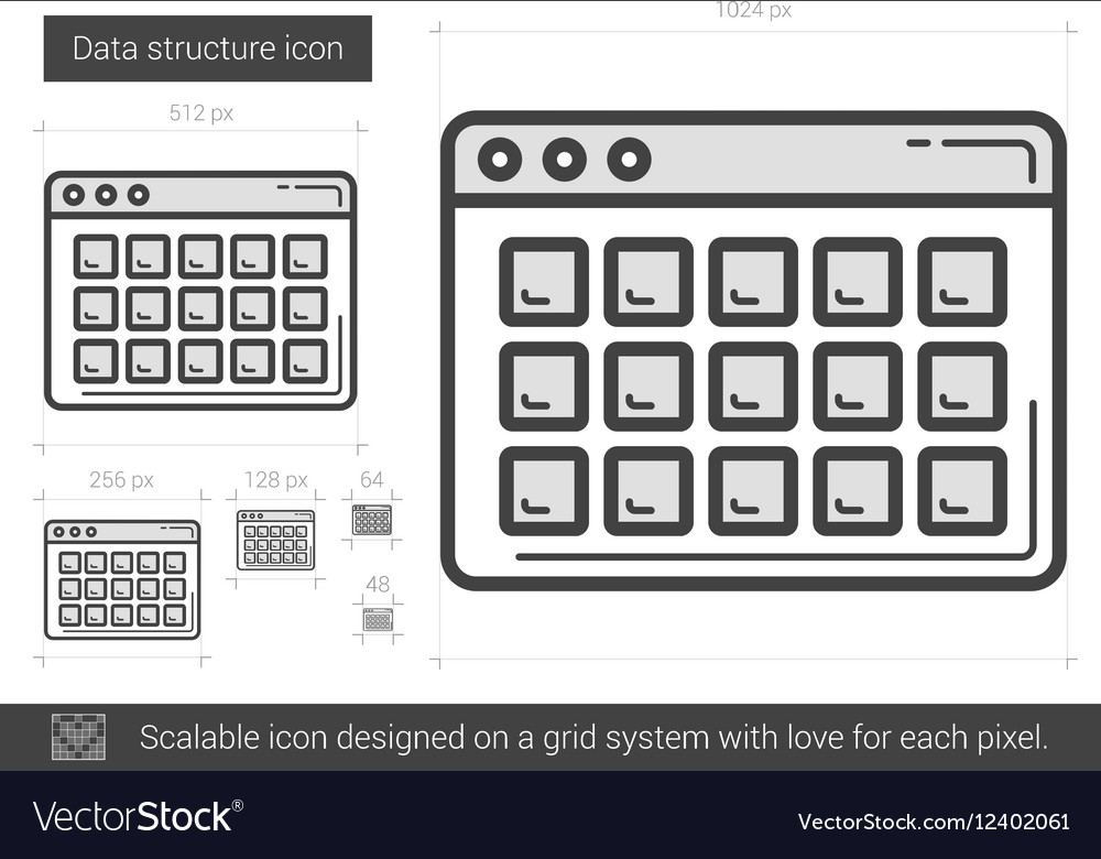 Data structure line icon