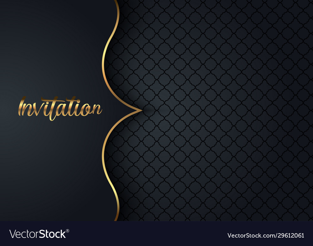 Elegant invitation design background Royalty Free Vector