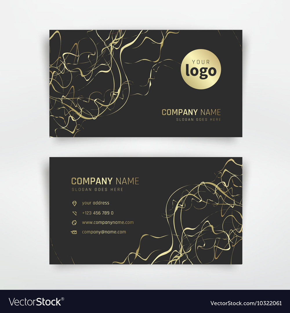 Gold business card royalty free vector image vectorstock gold business card vector image reheart Choice Image