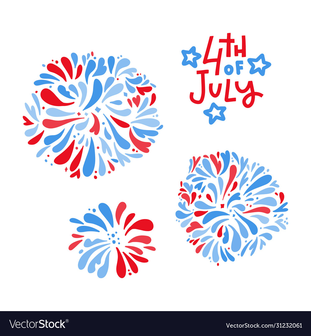 Happy 4th july independence day greeting card