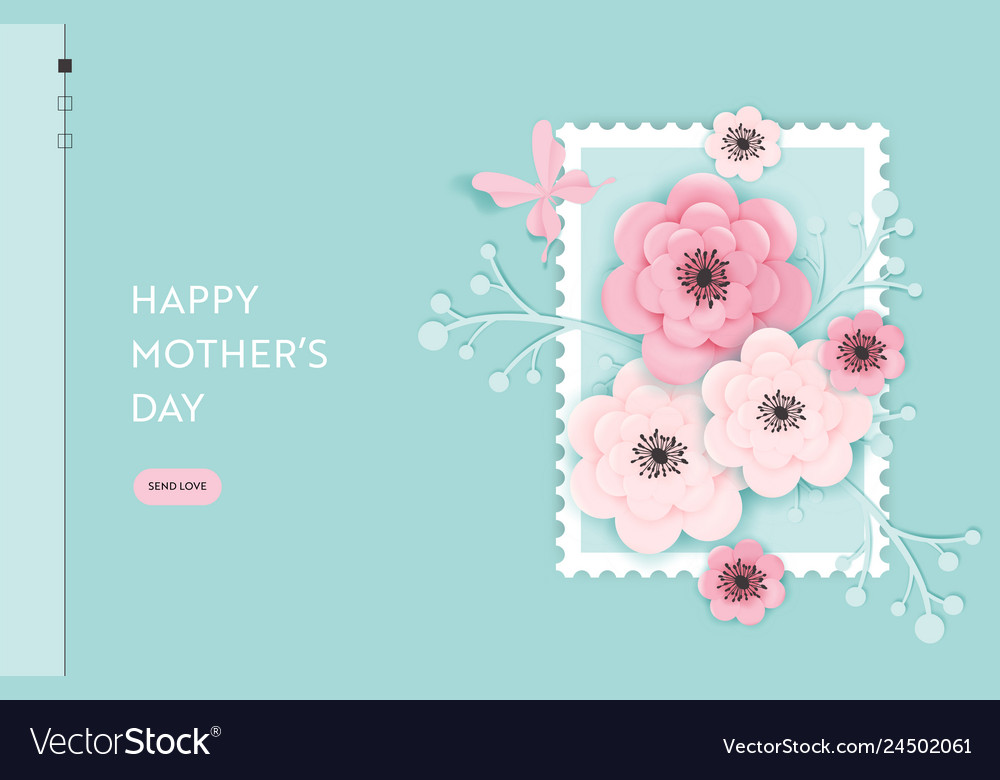 Happy mothers day landing page template