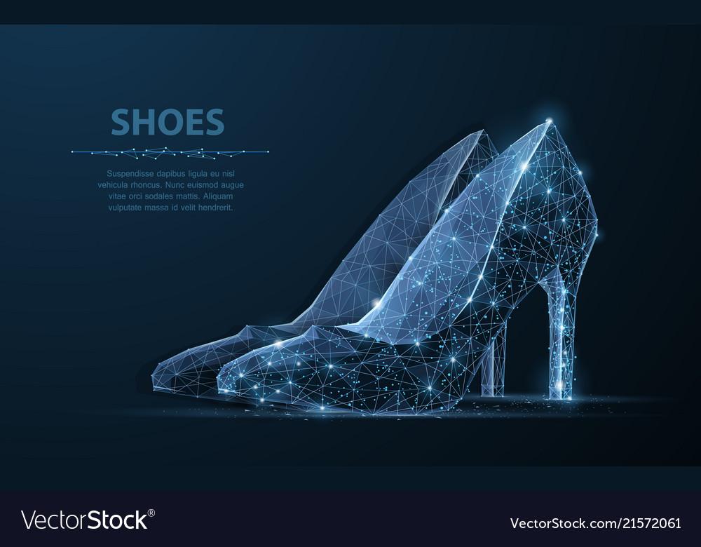 Isolated woman shoe elegance glamour