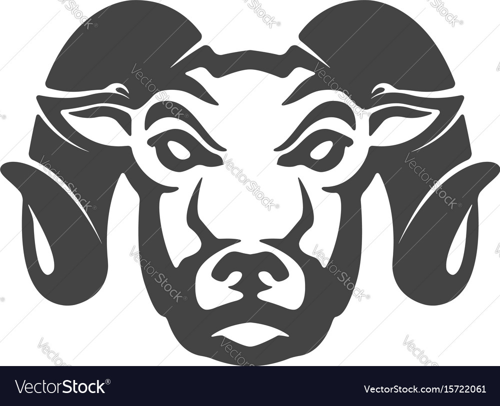 Ram icon isolated on white background mutton head vector image