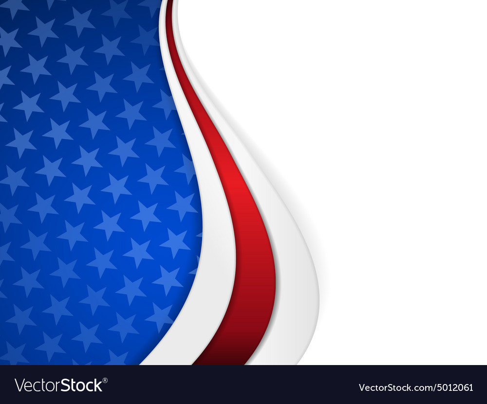 Stars and stripes themed wavy background