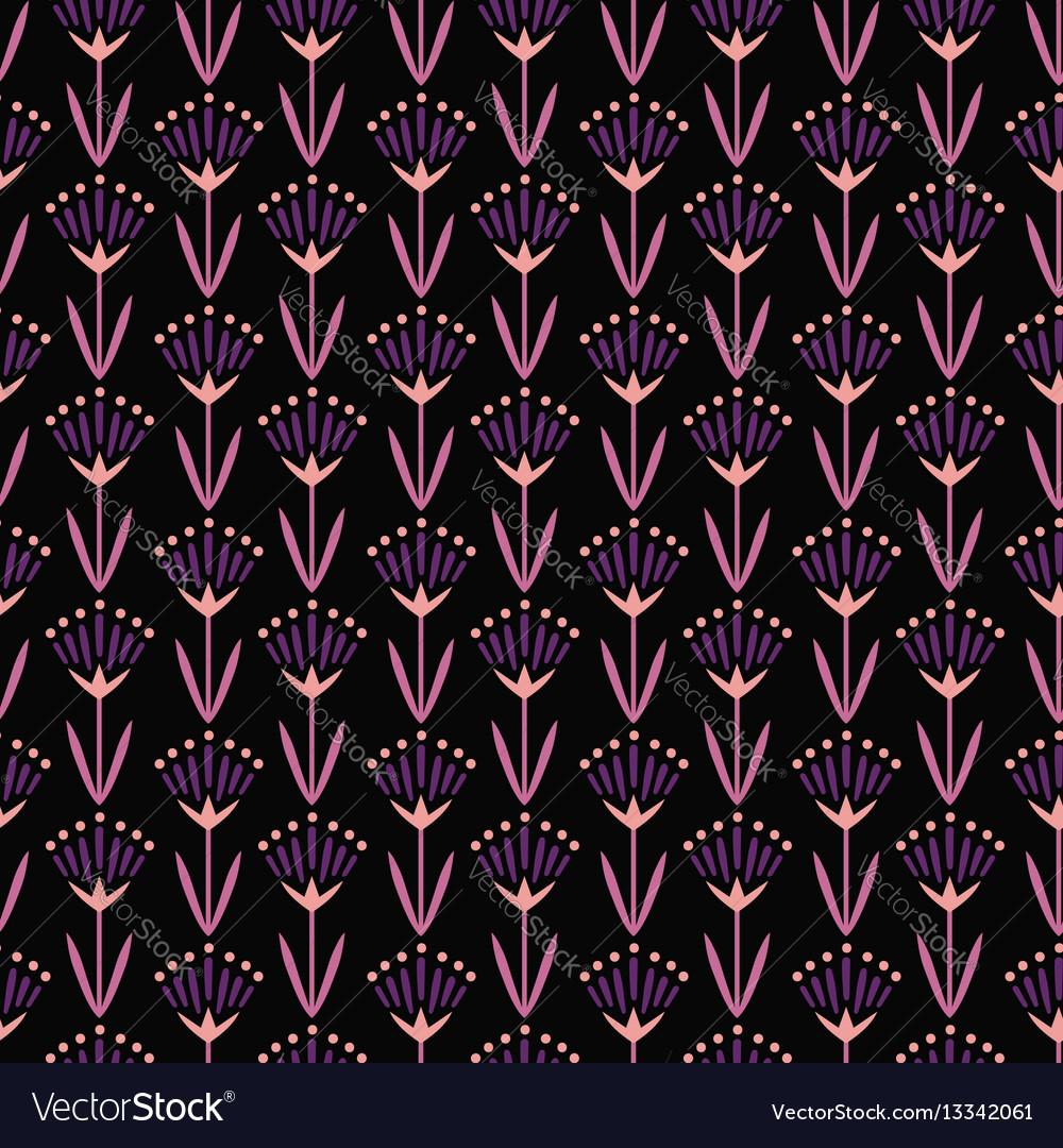 Violet oriental flowers