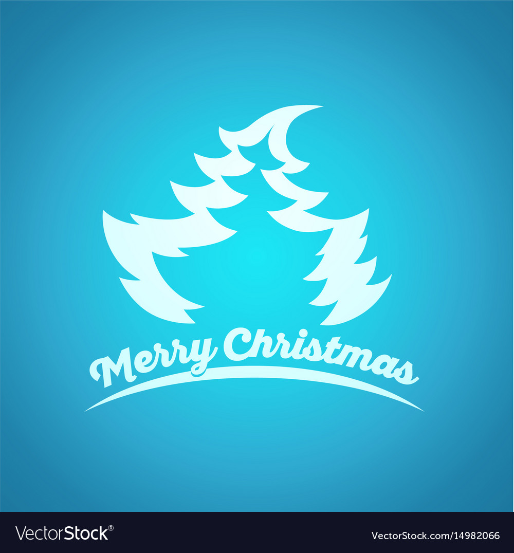 Christmas and new year blue greeting card