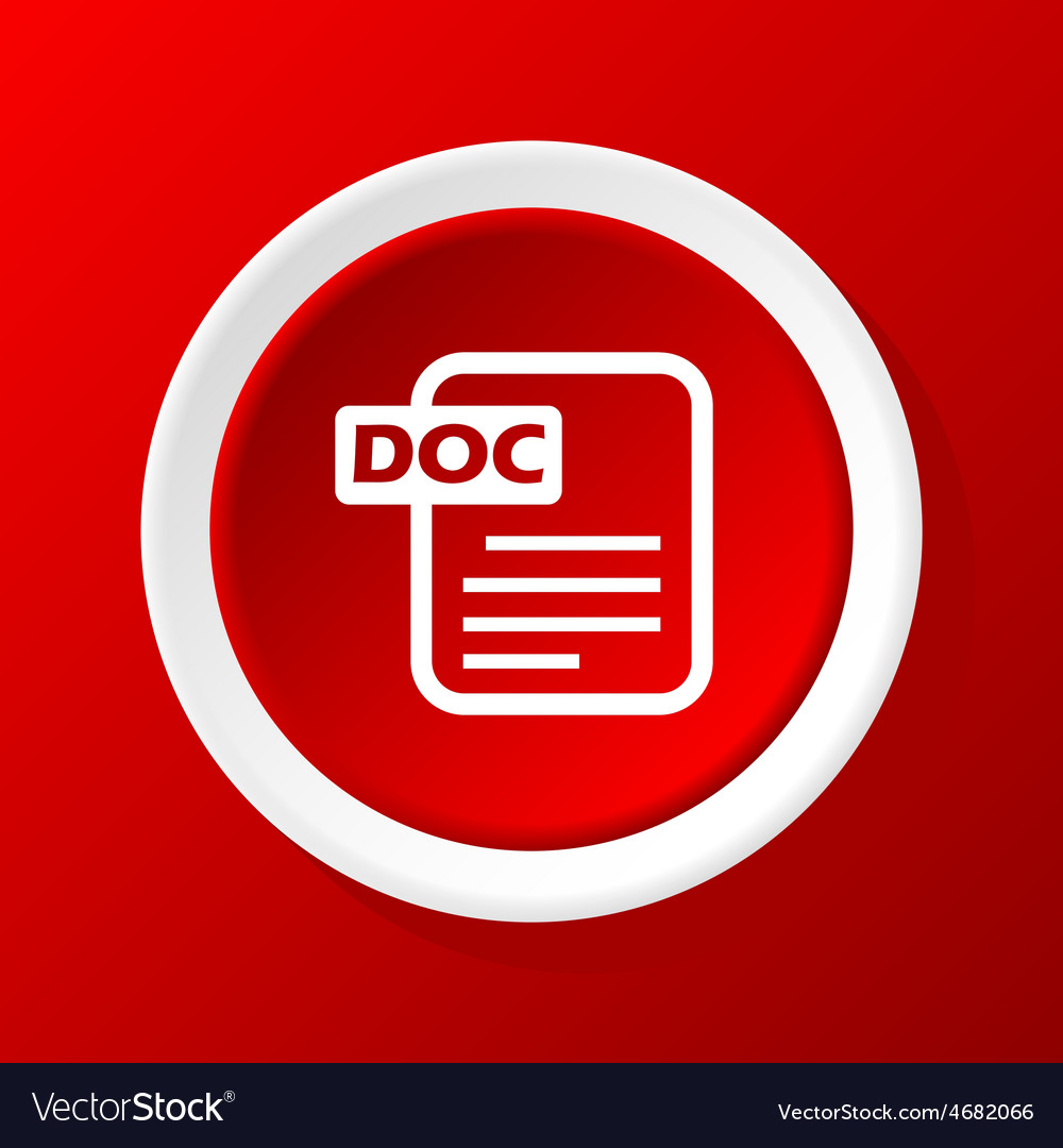 Doc file icon on red