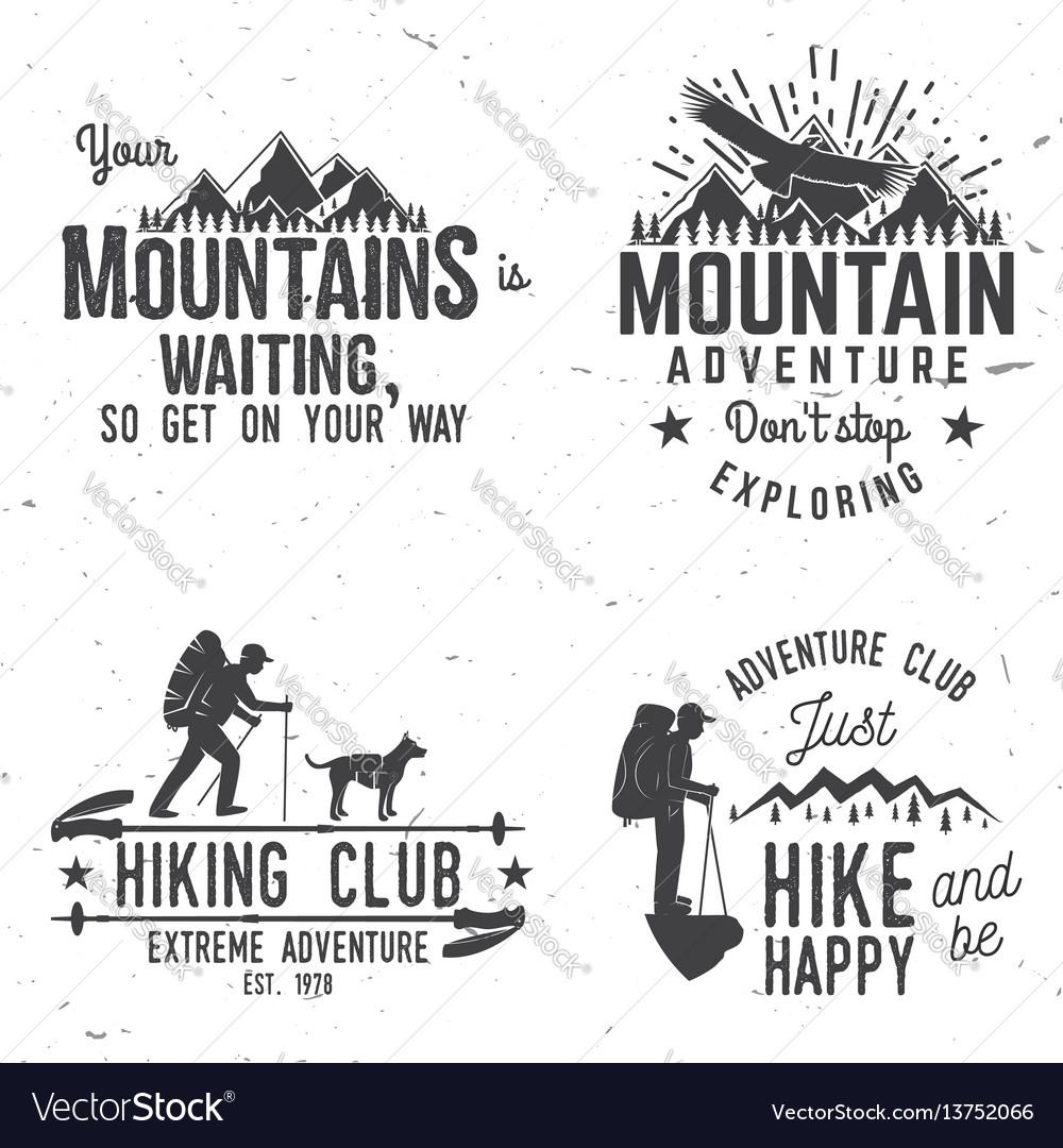 Set of extreme adventure badges