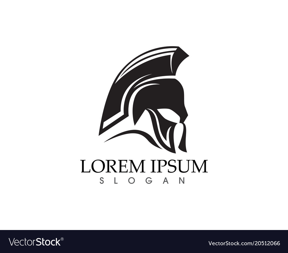 Warrior mask knight titan sparta spartan simple