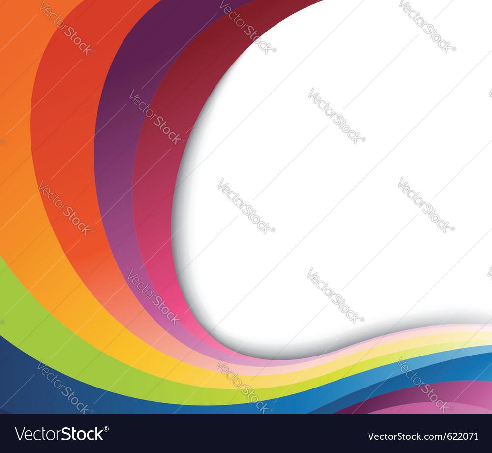 Abstract rainbow wave