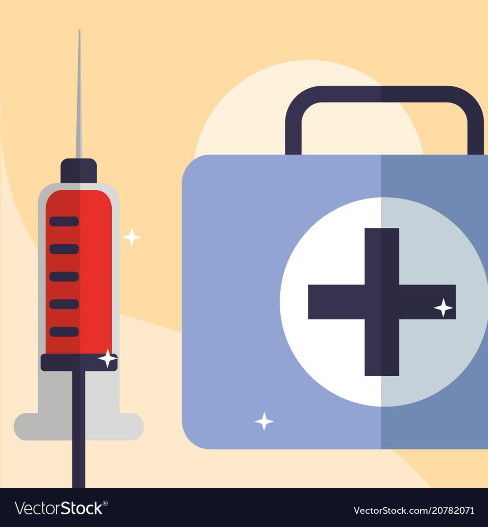 Blood syringe and kit medicine medical equipment