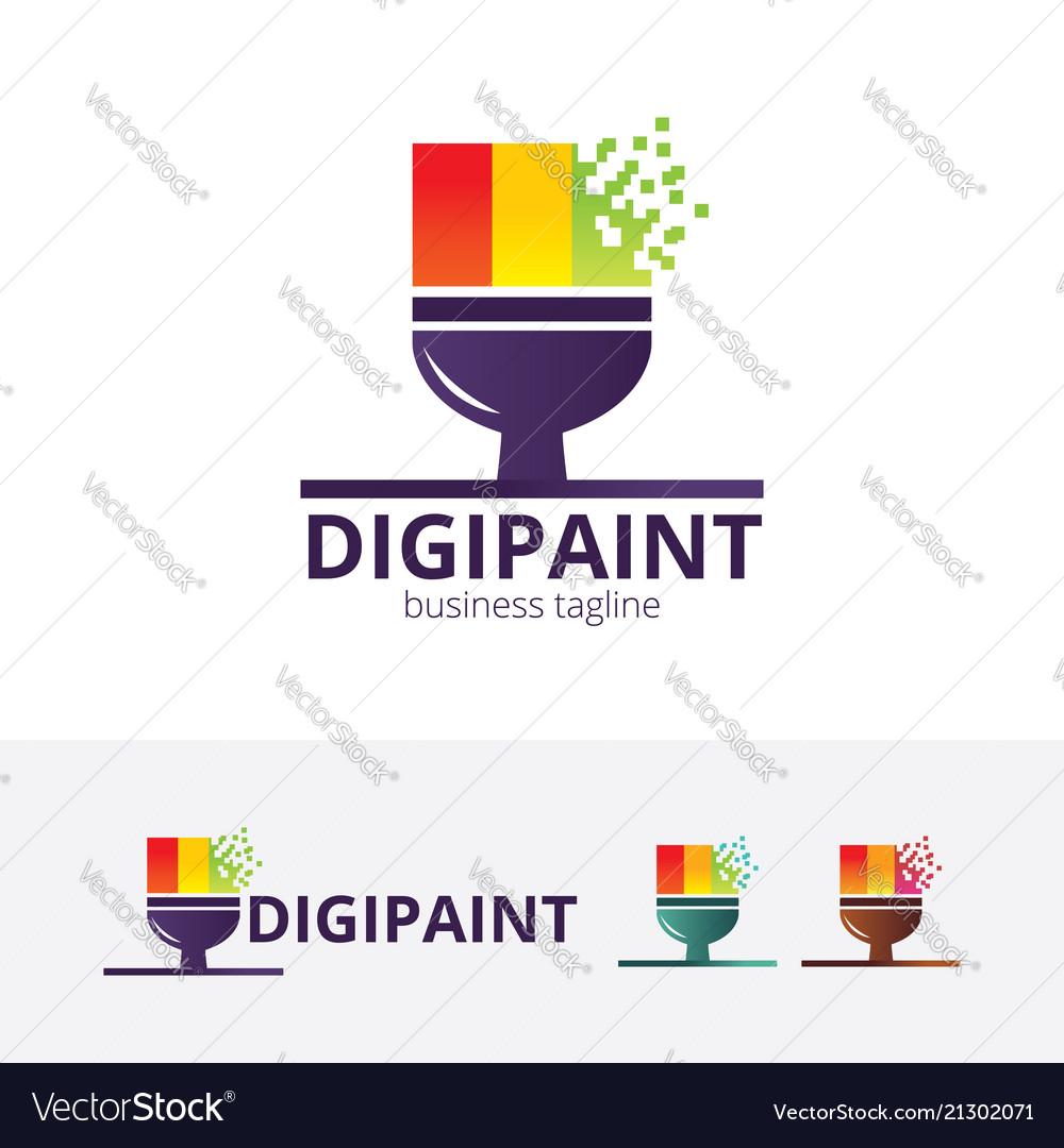 Digital paint logo design