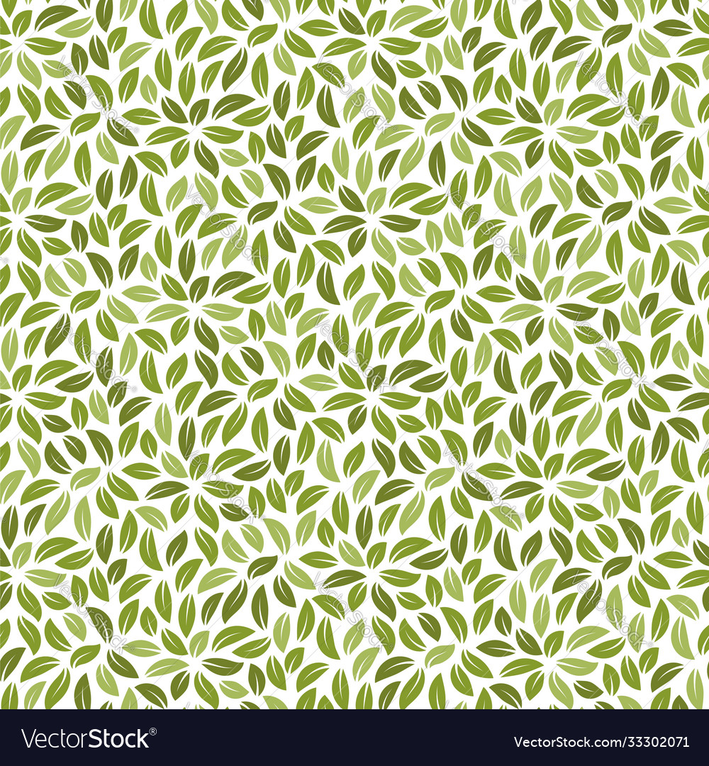 Foliage seamless pattern background with leaves