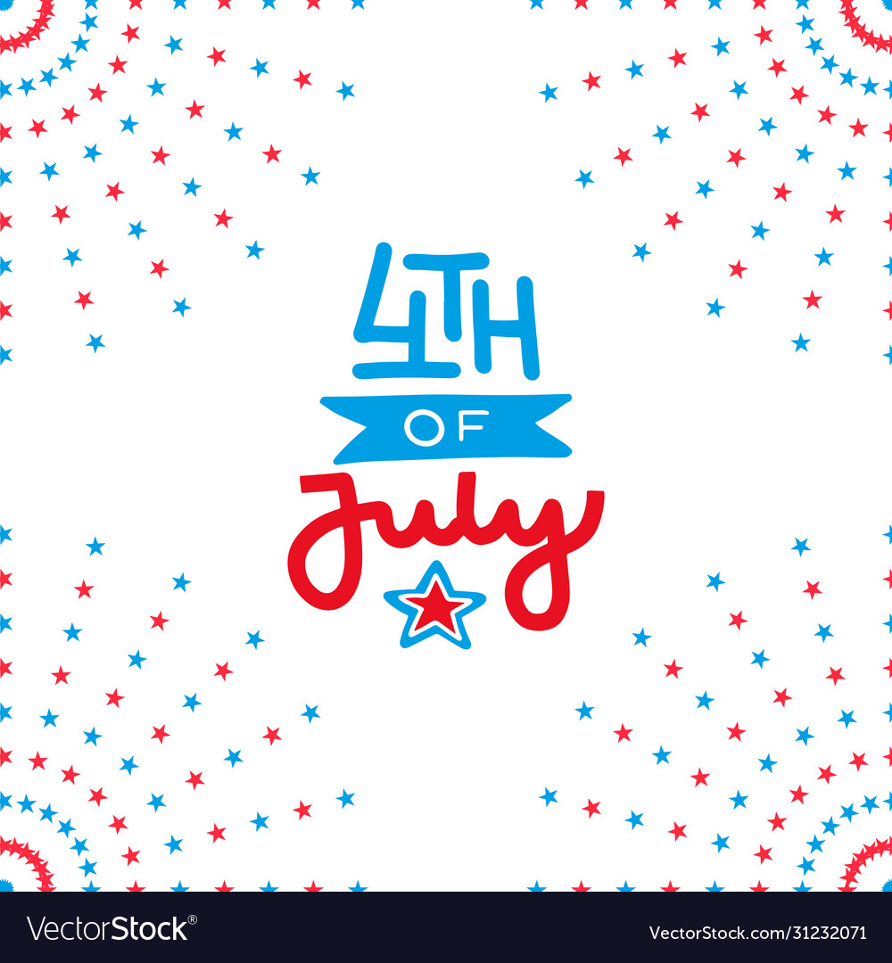 Fourth july independence day salute decor of