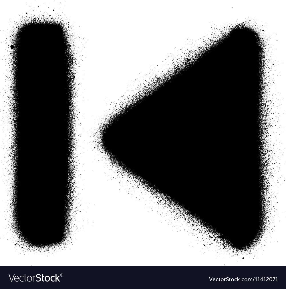 Go to start media graffiti spray icon in black