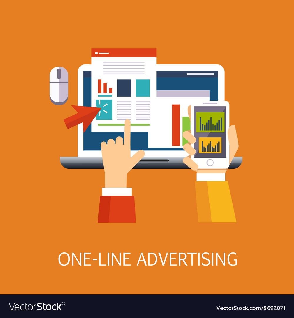 On-line Advertisement Concept Art