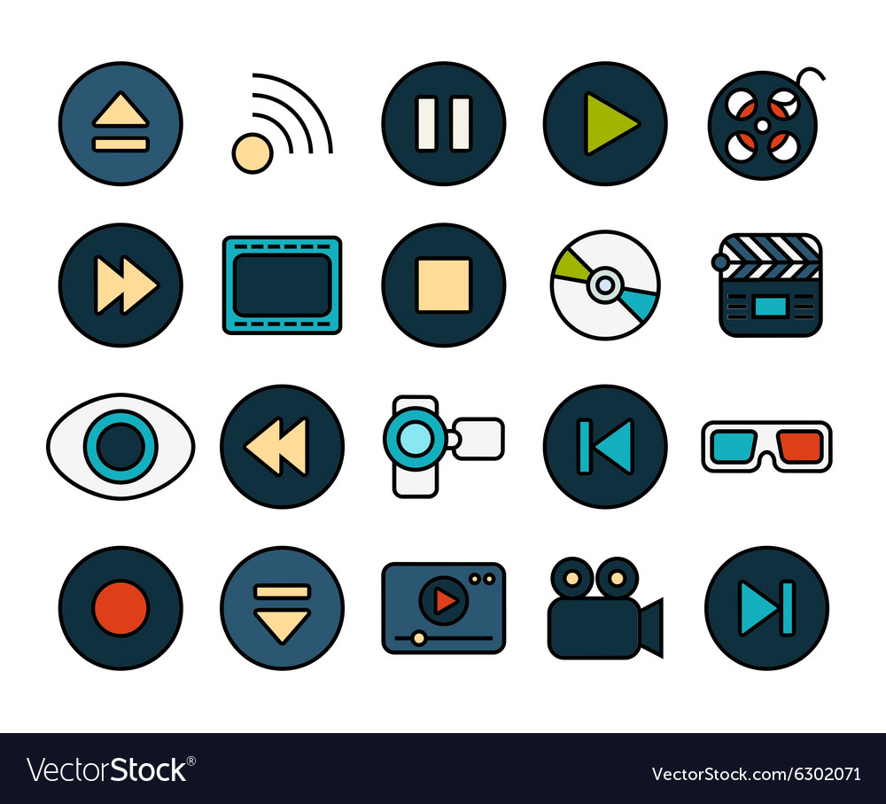 Outline icons thin flat design modern line stroke vector image