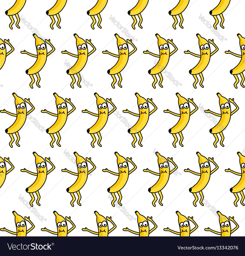 Banana party vector image