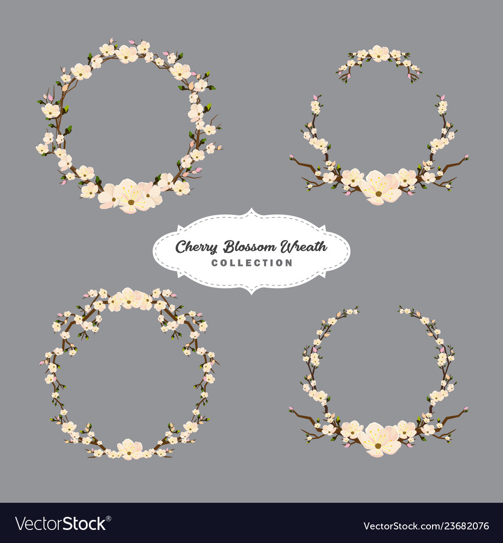 Cherry blossom wreaths collection