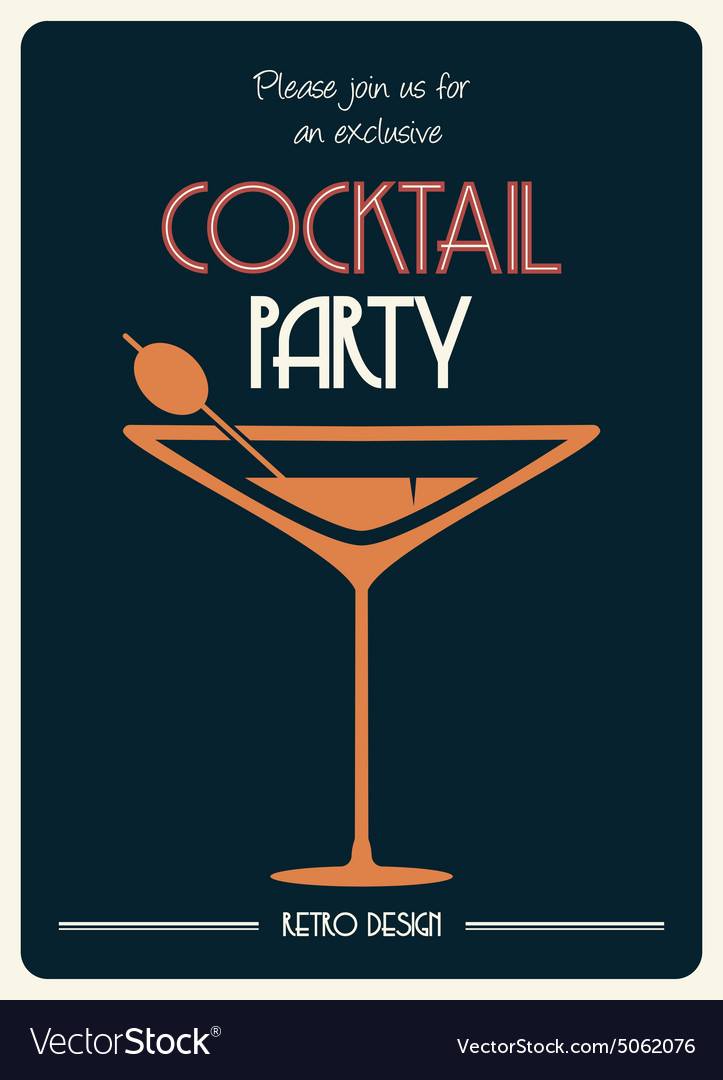e308a3bb2e Cocktail party invitation