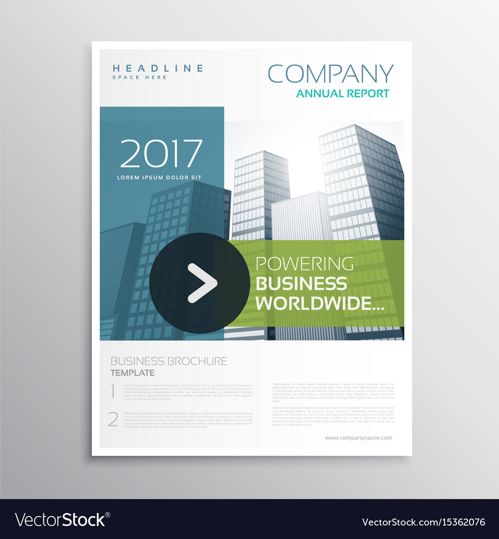 Company Brochure Design Template In Clean Modern Vector Image - Company brochure templates
