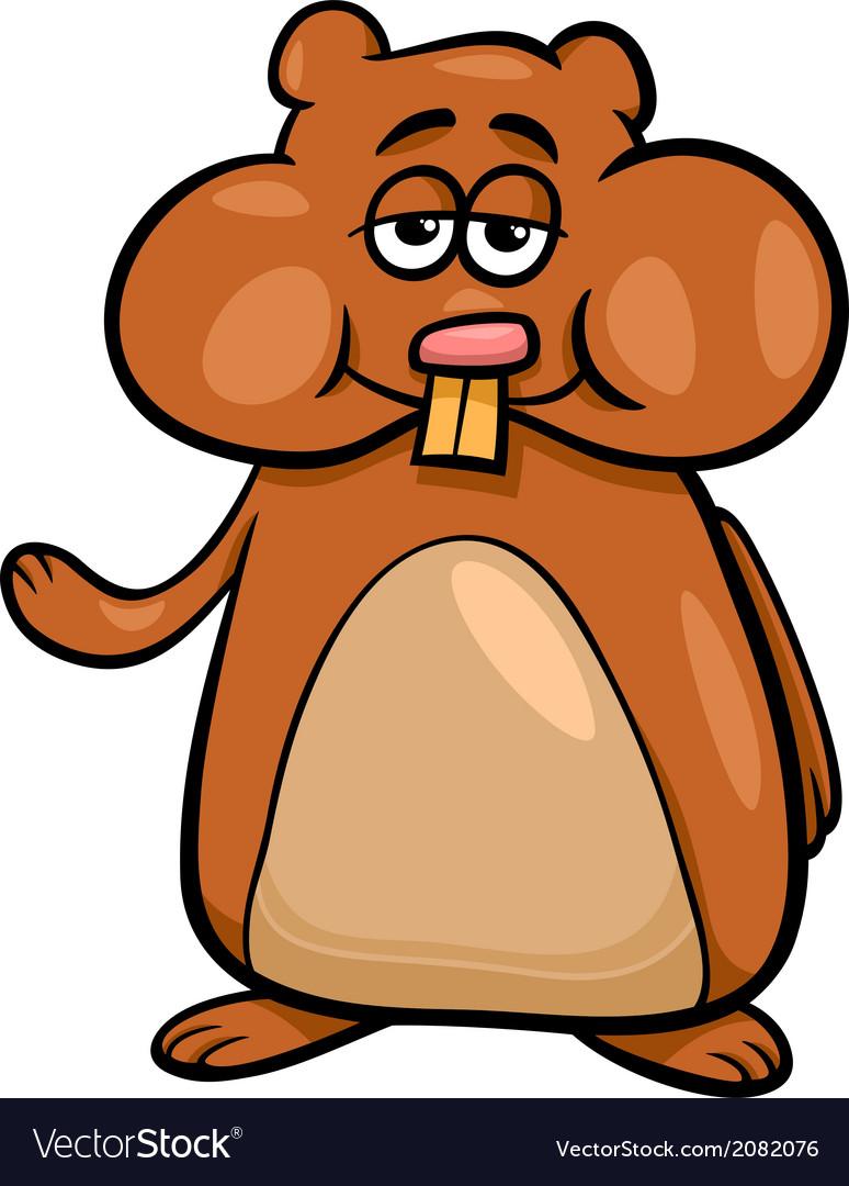 hamster character cartoon royalty free vector image