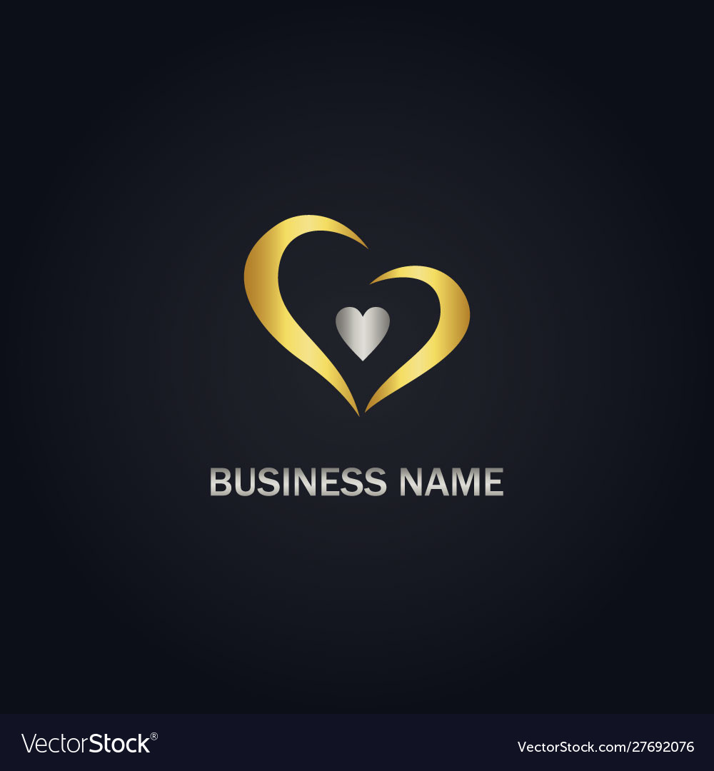 Love abstract gold logo