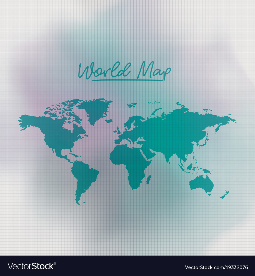 World map in green color and grid background white world map in green color and grid background white vector image gumiabroncs Image collections