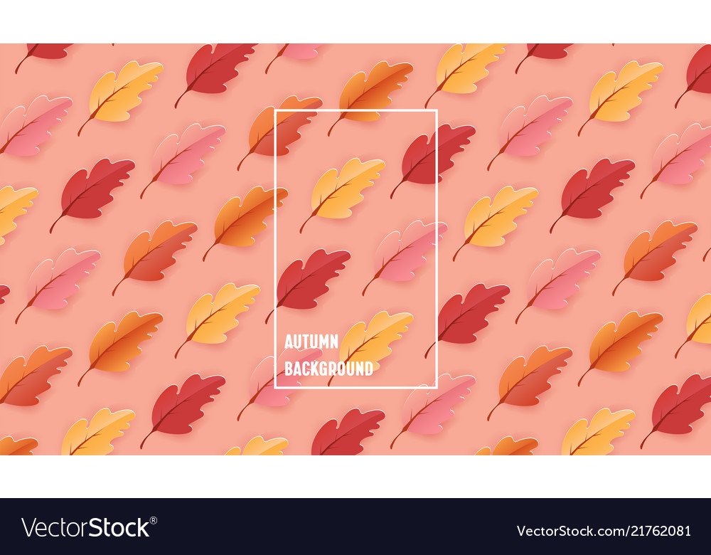 Autumn leaves background fall template pattern