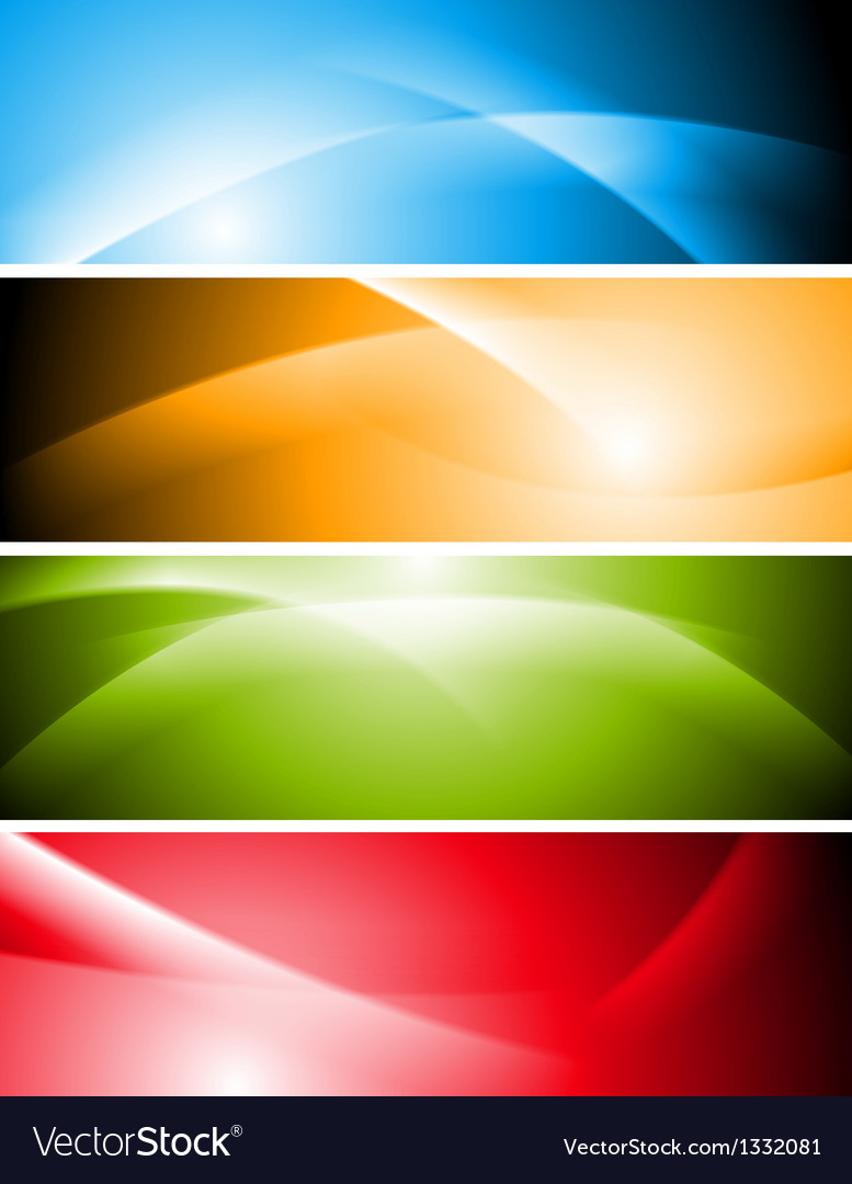 Bright abstract waves banners vector image