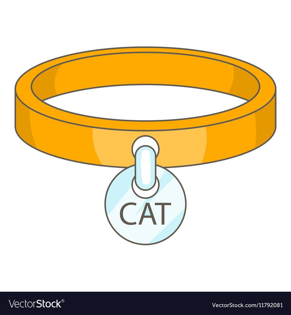 Cat collar icon cartoon style vector image