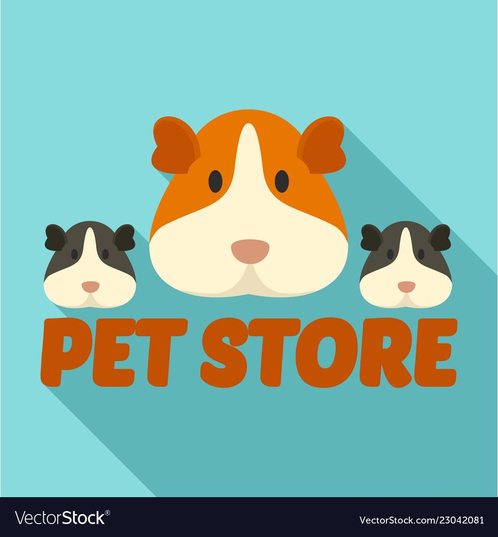 Cavy pet store logo flat style