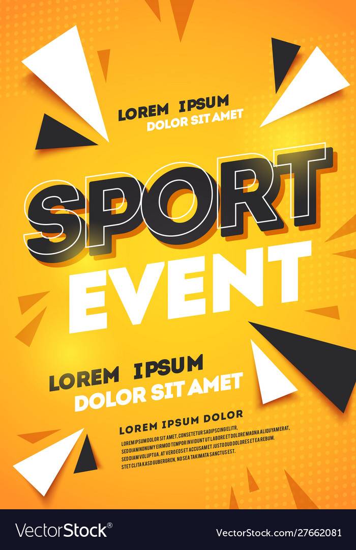 Dynamic abstract sport template design background