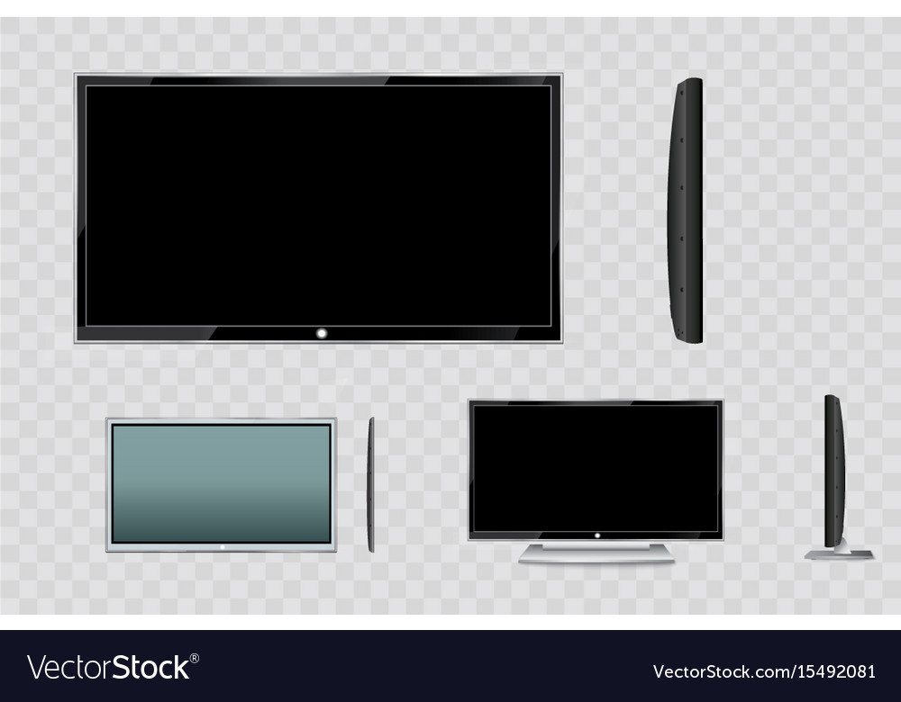 Flat led monitor of computer or black photo frame Vector Image