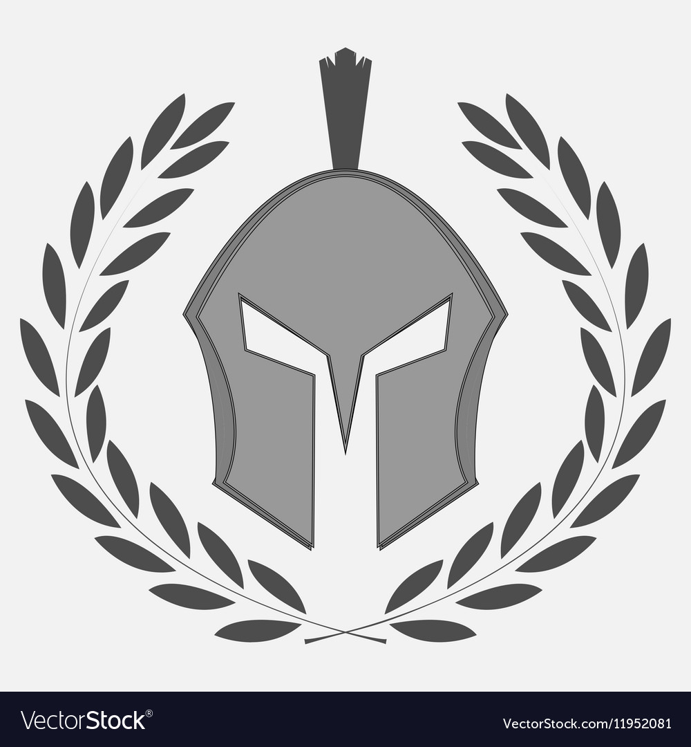 Knight icon with laurel wreath