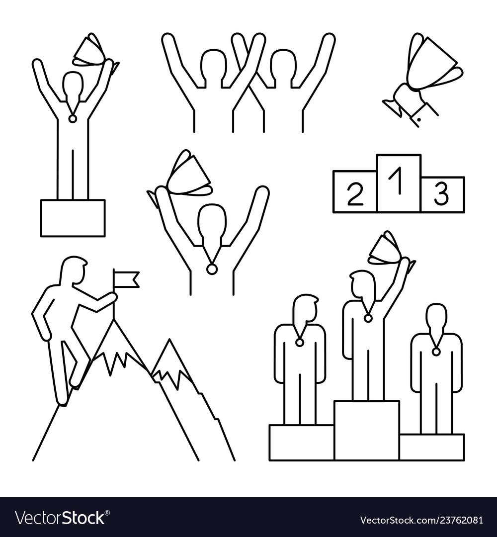Line winner icons