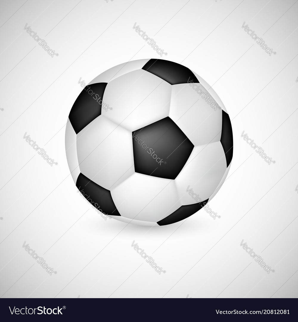 Soccer ball in 3d realistic style