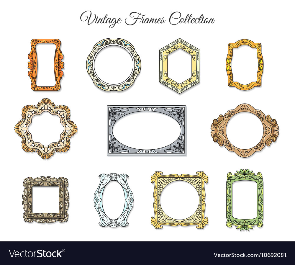 Vintage classic frames Royalty Free Vector Image