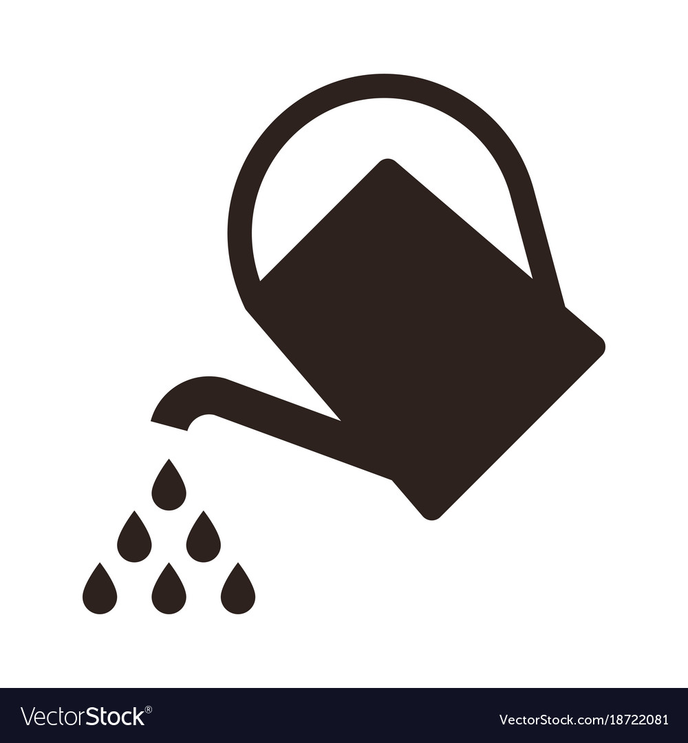 Watering Can Symbol Royalty Free Vector