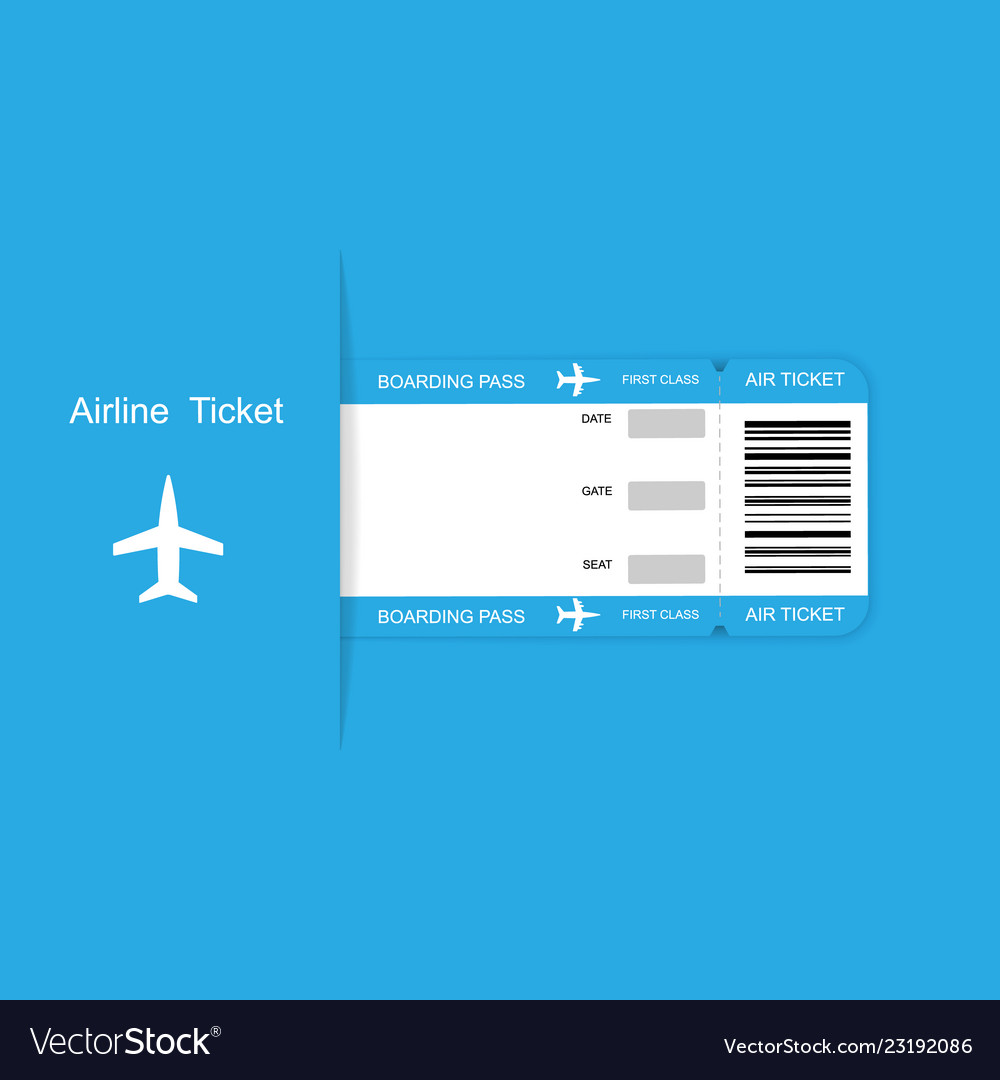 Airline travel boarding pass ticket