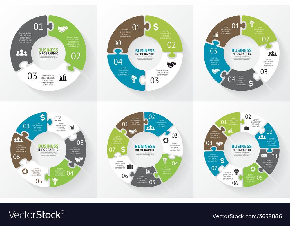 Circle puzzle infographic Diagram presentation