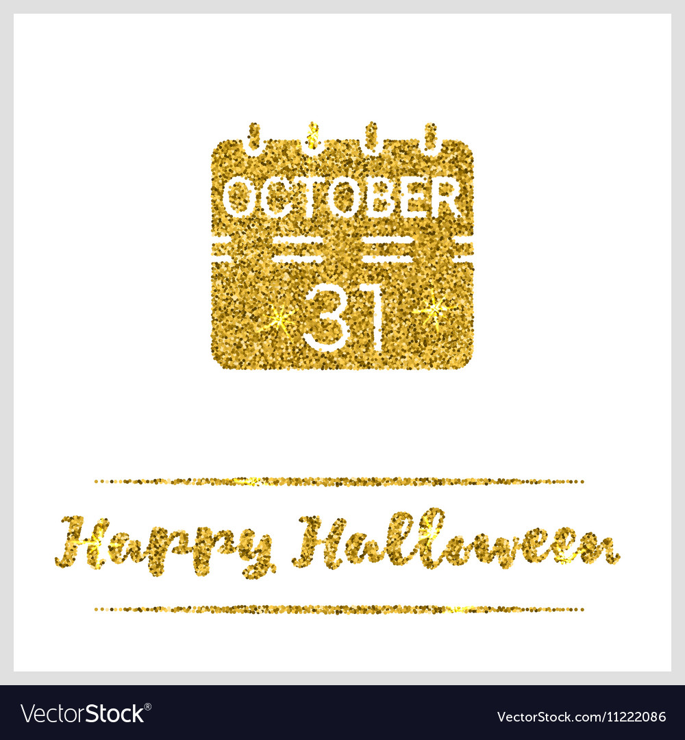 Halloween gold textured calendar icon