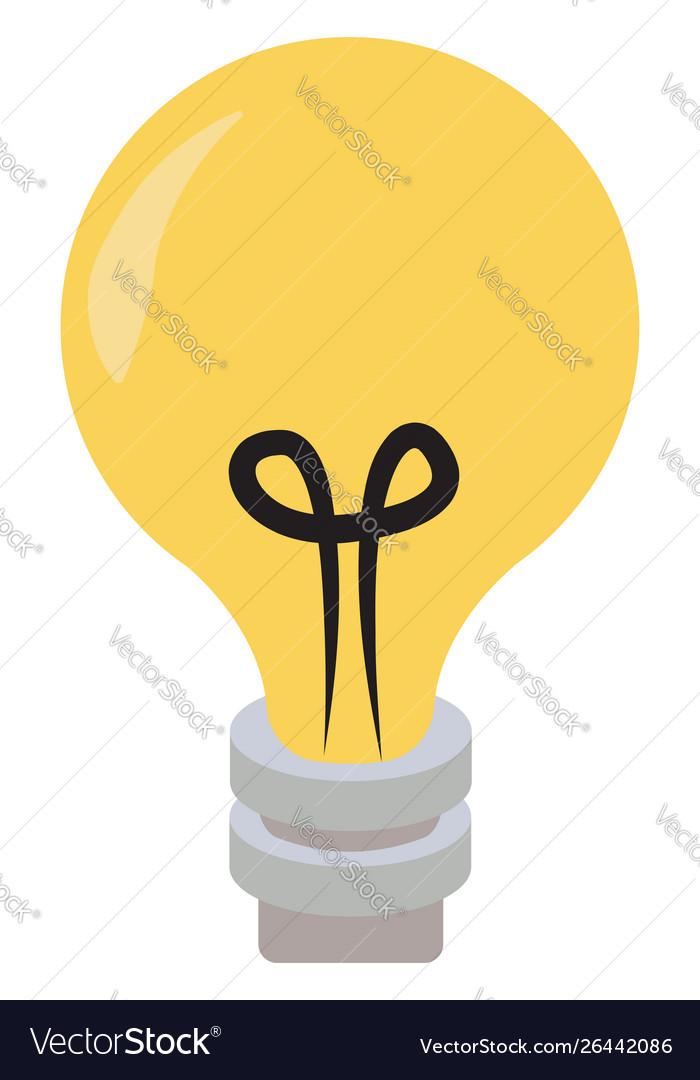 Lighting bulb on white background