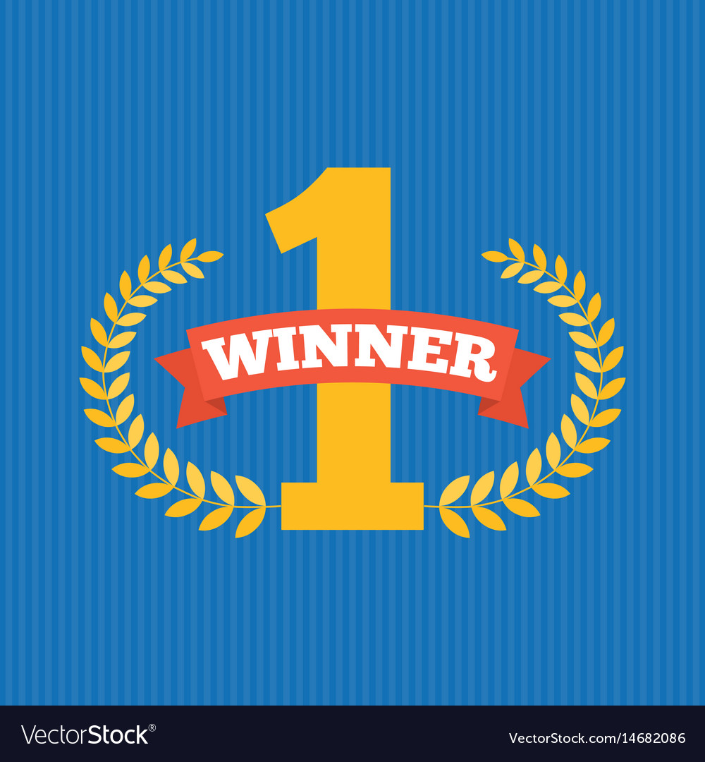 Number one first sign vector image