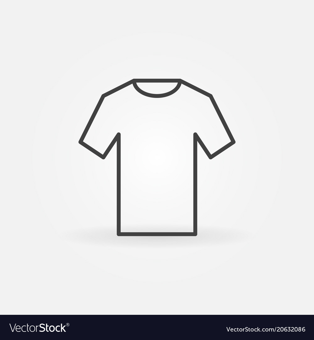 T-shirt icon outline tshirt sign
