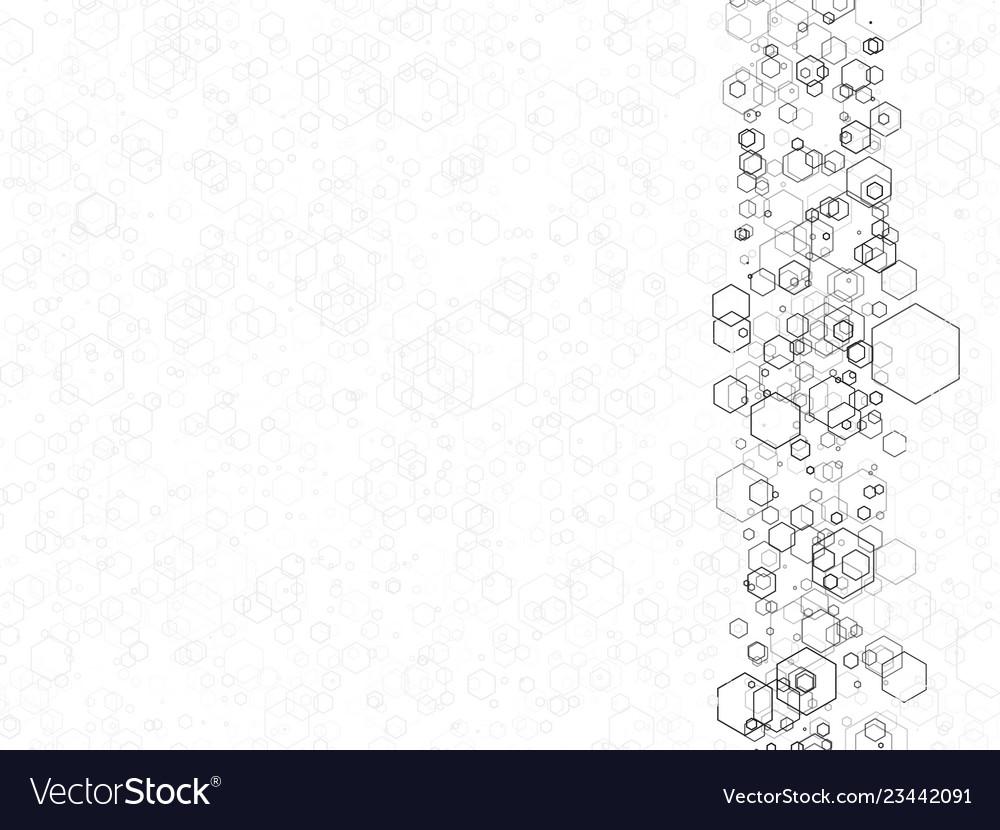 Black hexagon technological texture