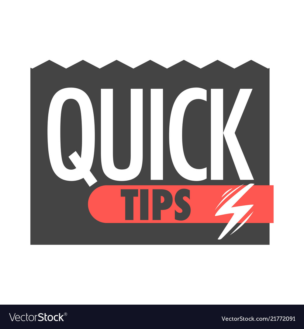 Quick tips info icons for help tricks