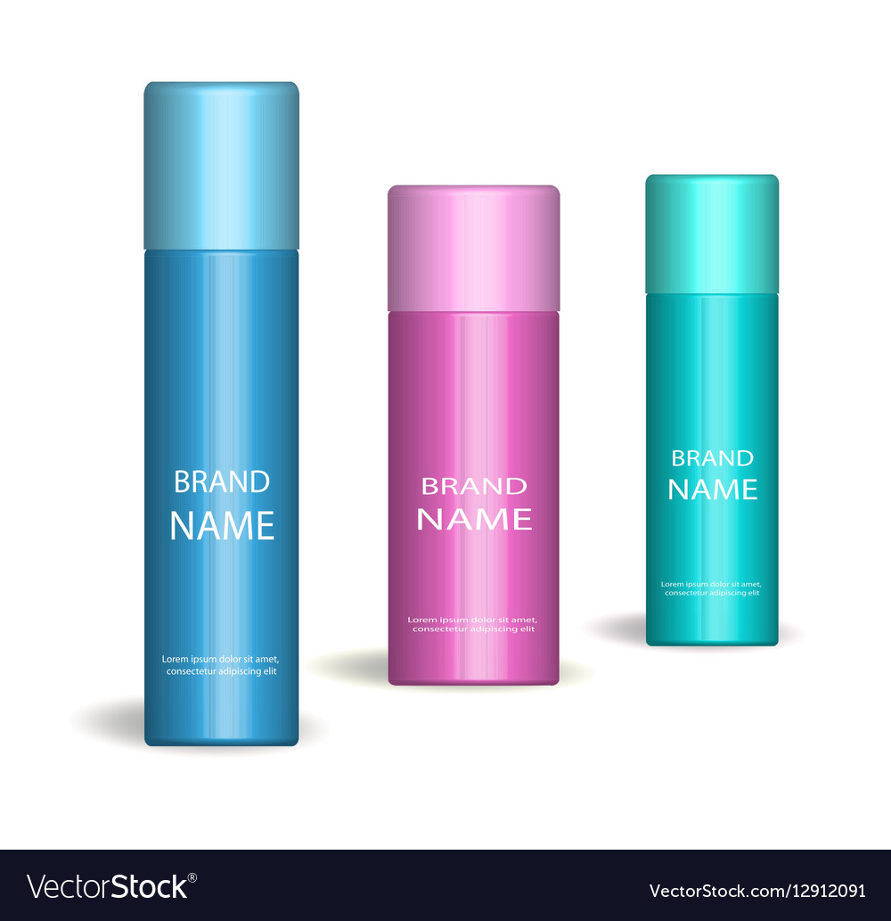 Realistic spray set Isolated on white background vector image