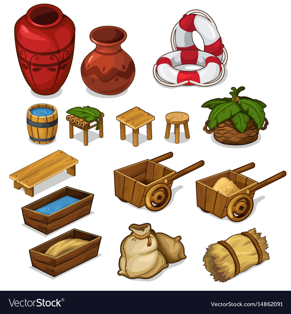 Set items for life in the countryside vector image