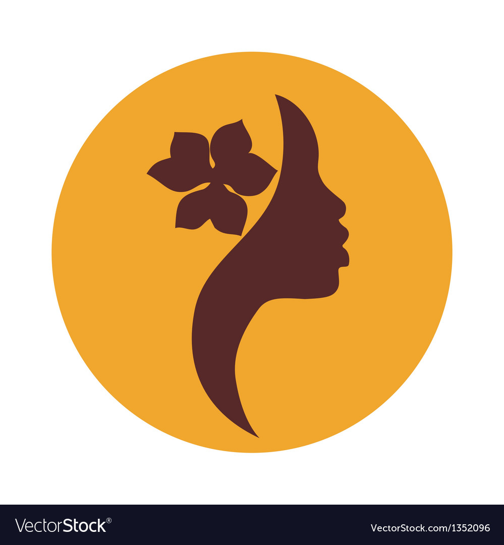 African american woman face profile- beauty sign